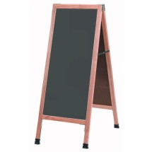 "Aarco Products A-35SS A-Frame Slate Porcelain Sidewalk Chalkboard with Solid Red Oak Frame, 42""H x 18""W"