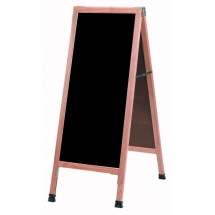 "Aarco Products A-3P A-Frame Sidewalk Black Acrylic Board with Solid Red Oak Frame, 42""H x 18""W"