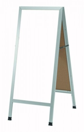 """Aarco Products AA-35 Aluminum A-Frame Sidewalk Board with White Markerboard, 42""""H x 18""""W"""