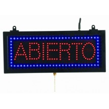 "Aarco Products ABI08S High Visibility LED ABIERTO Sign, 6 3/4""H x 16 1/8""W"