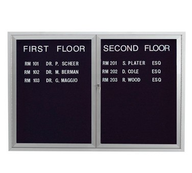 """Aarco Products ADC3648L Enclosed Aluminum Directory Board, 36""""H x 48""""W"""
