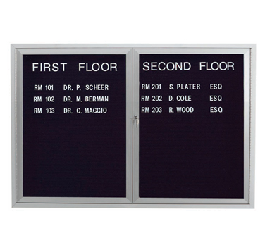 "Aarco Products ADC3648L Enclosed Aluminum Directory Board, 36""H x 48""W"