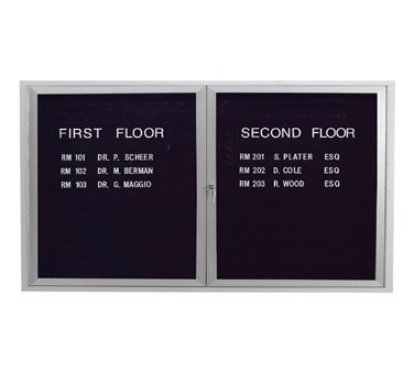 "Aarco Products ADC3660L Enclosed Aluminum Directory Board, 36""H x 60""W"