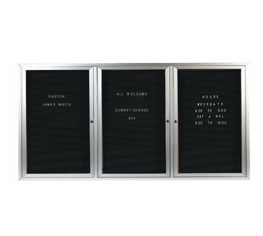 """Aarco Products ADC3672-3L Enclosed Aluminum Directory Board, 36""""H x 72""""W"""