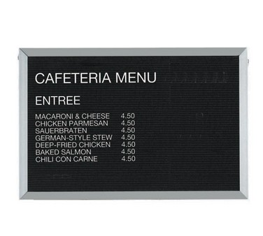 """Aarco Products BOFD2436L Letter Board Message Center with Aluminum Frame 24""""H x 36""""W"""