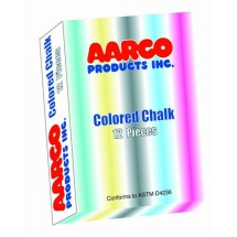 Aarco Products CCS-12 Colored Chalk - 12 Boxes of 12 Pieces