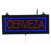 "Aarco Products CER07S High Visibility LED CERVEZA Sign, 6 3/4""H x 16 1/8""W"
