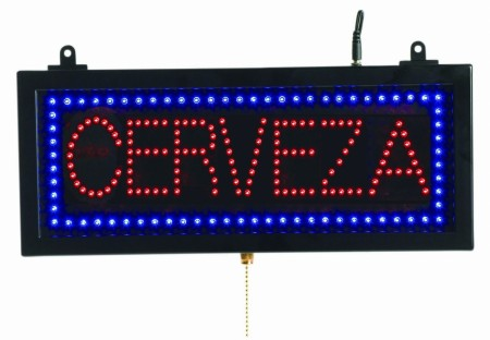 """Aarco Products CER07S High Visibility LED CERVEZA Sign, 6 3/4""""H x 16 1/8""""W"""