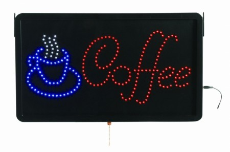 """Aarco Products COF03L High Visibility LED COFFEE Sign, 13""""H x 22""""W"""