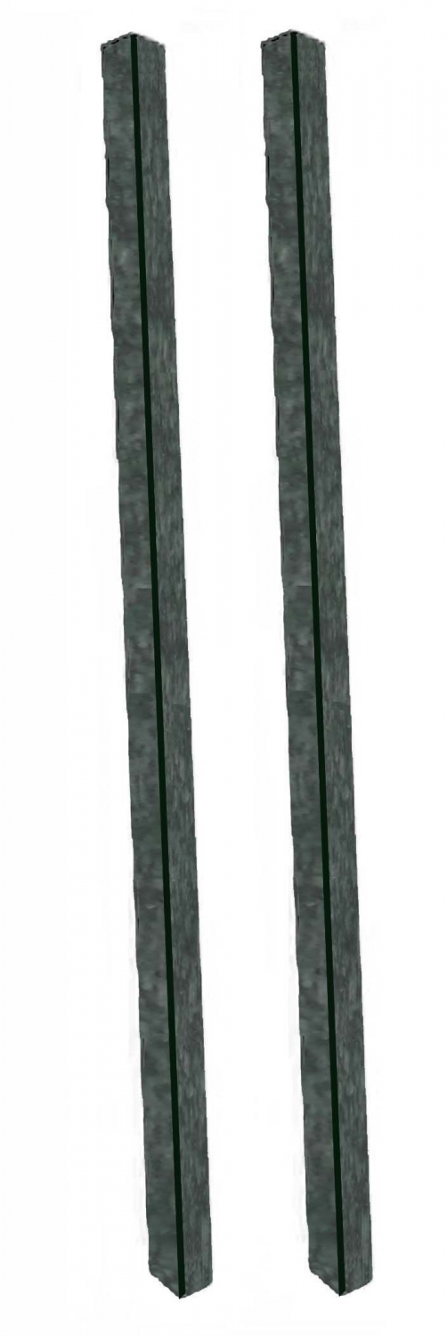 Aarco Products DPP-4 Green Plastic Lumber Post Set