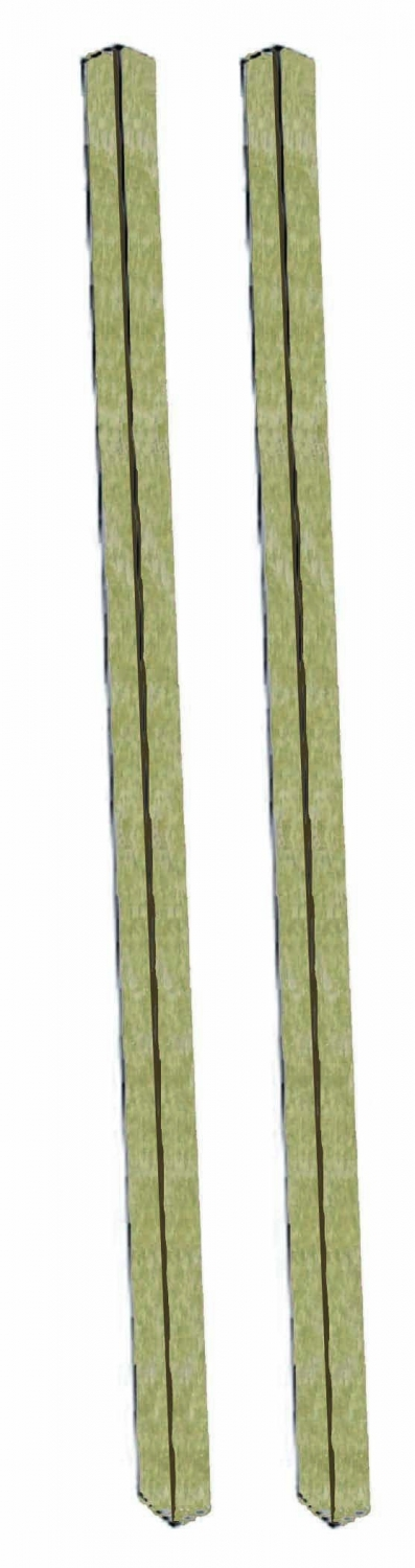 Aarco Products DPP-8 Weathered Wood Plastic Lumber Post Set