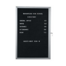 """Aarco Products EDC2418L Enclosed Aluminum Indoor Message Center with 1 Overlapping Hinged Locking Door, 24""""H x 18""""W"""