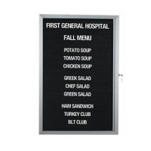 "Aarco Products EDC3624L Message Center Board, 36""H x 24""W"