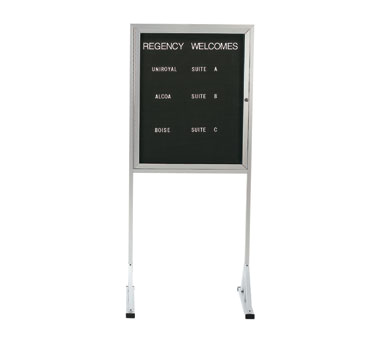 "Aarco Products FMD3630 Free Standing Changeable Letter Board Cabinet 36""H x 30""W"