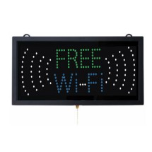 "Aarco Products FRE11M High Visibility LED FREE Wi-Fi Sign, 9 3/4""H x 18 3/4""W"