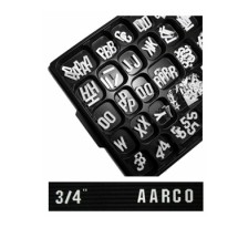 Aarco Products GF.75 3/4'' Gothic Style Universal Single Tab Changeable Typeface Letters- 165 Characters / Set