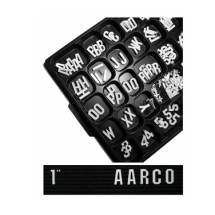 "Aarco Products GFD1.0 1"" Gothic Style Universal Single Tab Changeable Typeface Letters - 330 Characters / Set"