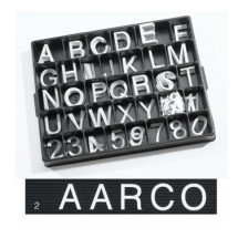 Aarco-Products-HF2-0-2-0-Helvetica-Style-Universal-Single-Tab-Changeable-Typeface-Letters--160-Characters---Set