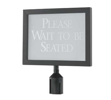 "Aarco Products HSF1114BK Form-A-Line Sign Frame in Black, 11 1/8""H x 14 1/8""W"