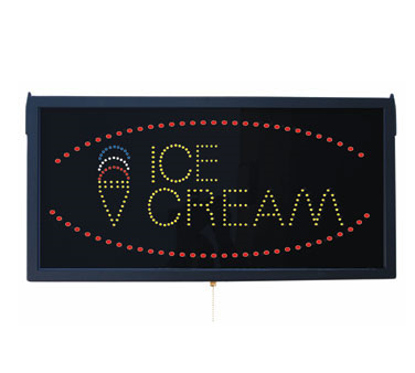 "Aarco Products ICE13L High Visibility LED ICE CREAM Sign, 11 3/4""H x 23 1/2""W"