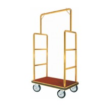 Aarco Products LC-1B Bellman's Luggage Cart- Brass Finish
