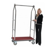 Aarco Products LC-2C Bellman's Tall Luggage Cart - Chrome Finish