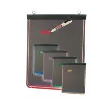 Aarco Products LF-1 Ultra Lite Lighted Write-On Marker Board