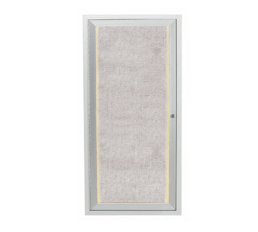 "Aarco Products LODCC2412R Outdoor Enclosed Aluminum Bulletin Board With LED Lighting, 24""H x 12""W"