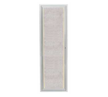 """Aarco Products LODCC3612R Outdoor Enclosed Aluminum Bulletin Board With LED Lighting, 36""""H x 12""""W"""