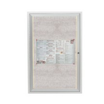 "Aarco Products LODCC3624R Outdoor Enclosed Aluminum Bulletin Board With LED Lighting, 36""H x 24""W"