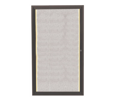 "Aarco Products LODCC3624RBA Outdoor Enclosed Aluminum Bulletin Board with LED Lighting and Bronze Anodized Finish, 36""H x 24""W"