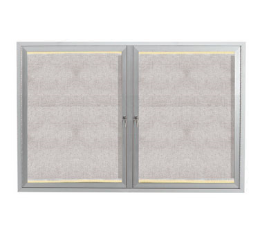 "Aarco Products LODCC3648R Outdoor Enclosed Aluminum Bulletin Board With LED Lighting, 36""H x 48""W"
