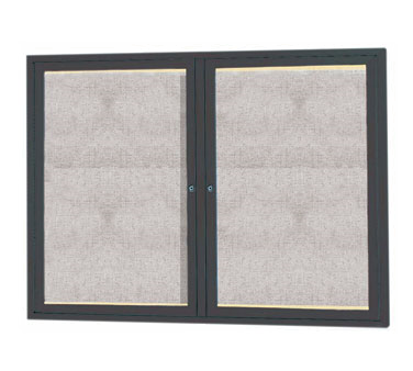 "Aarco Products LODCC3648RBA Outdoor Enclosed Aluminum Bulletin Board with LED Lighting and Bronze Anodized Finish, 36""H x 48""W"