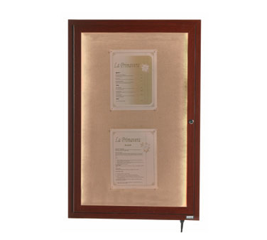 "Aarco Products LWL3624W Indoor / Outdoor LED Lighted Display Case with Walnut Wood-Look Finish 36""H x 24""W"