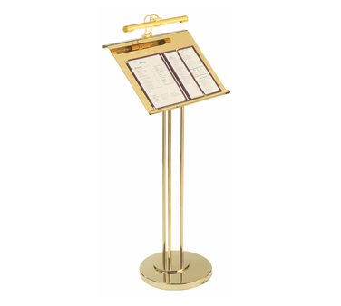 Aarco Products MD-1 Maitre D Brass Hostess Station with Display Light