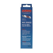 Aarco Products MFL-2W Vivid White Markers, 2 Pack