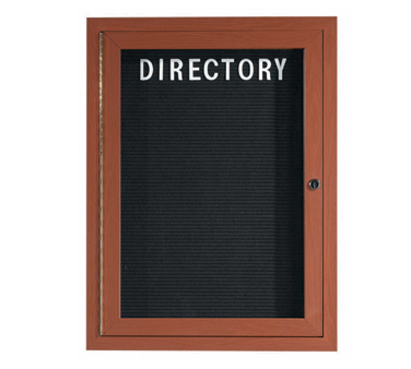 "Aarco Products OADCO3624L Enclosed Outdoor Aluminum Directory Board with Oak Wood Look Finish, 36""H x 24""W"