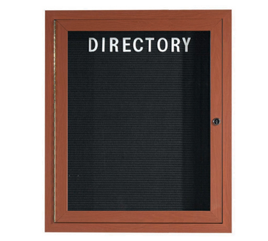 "Aarco Products OADCO3630L Enclosed Outdoor Aluminum Directory Board with Oak Wood Look Finish, 36""H x 30""W"