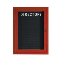 "Aarco Products OADCW2418L Enclosed Outdoor Aluminum Directory Board with Cherry Wood Look Finish 24""H x 18""W"