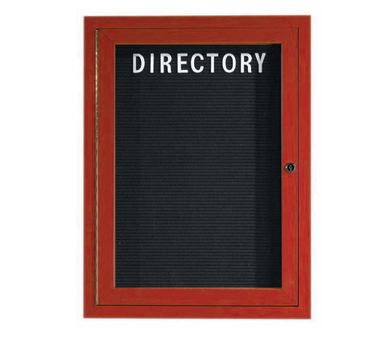 "Aarco Products OADCW3624L Enclosed Outdoor Aluminum Directory Board with Cherry Wood Look Finish 36""H x 24""W"