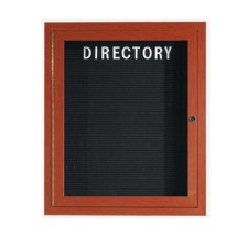 "Aarco Products OADCW3630L Enclosed Outdoor Aluminum Directory Board with Cherry Wood Look Finish 36""H x 30""W"