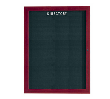 "Aarco Products OADCW4836L Enclosed Outdoor Aluminum Directory Board with Cherry Wood Look Finish 48""H x 36""W"