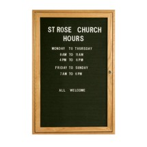"Aarco Products ODC3624L Oak Frame Enclosed Message Center Board, 36""H x 24""W"