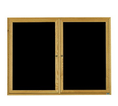 "Aarco Products ODC3648LOak Frame Enclosed Message Center Board, 36""H x 48""W"