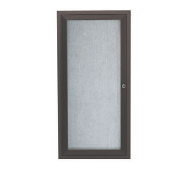 Aarco Products ODCC2412RBA 1-Door Outdoor Aluminum Framed Enclosed Bulletin Board- Bronze Anodized Finish, 24