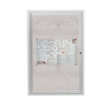 "Aarco Products ODCC2418R 1-Door Outdoor Aluminum Frame Enclosed Bulletin Board, 24""H x 18""W"