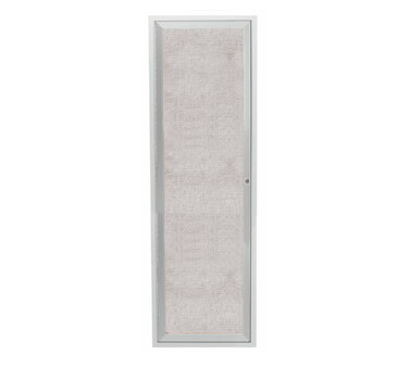 """Aarco Products ODCC3612R 1-Door Outdoor Aluminum Frame Enclosed Bulletin Board- Satin Anodized Finish, 36""""H x 12""""W"""