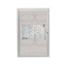 "Aarco Products ODCC3624R 1-Door Outdoor Aluminum Frame Enclosed Bulletin Board, 36""H x 24""W"
