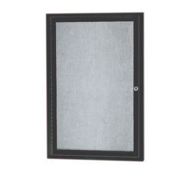 "Aarco Products ODCC3624RBA 1-Door Outdoor Enclosed Bulletin Board with Bronze Anodized Aluminum Frame, 36""H x 24""W"