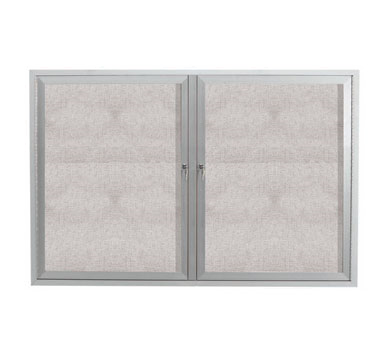 "Aarco Products ODCC3648R 2-Door Outdoor Aluminum Frame Enclosed Bulletin Board, 36""H x 48""W"